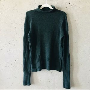 Madewell Forest Green Turtle Neck Knit Sweater